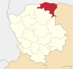 Location of Ļubešivas rajons
