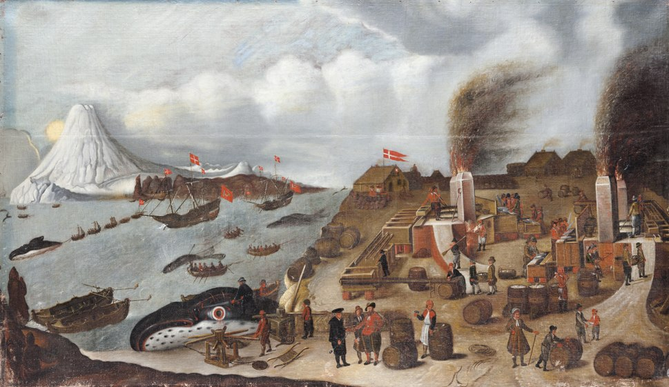 Måleri, genrebild. Valfångst - Skoklosters slott - 88972