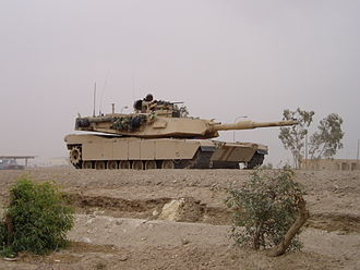 1st Tank Battalion - M1A1 outside of Fallujah on 9 May 2004