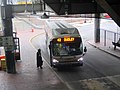 MBTA route 42 bus at Forest Hills lower busway, December 2017.JPG