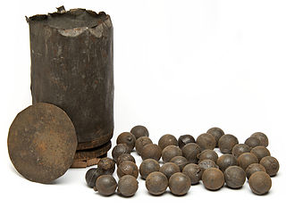 Canister shot Class of ammunition used by artillery