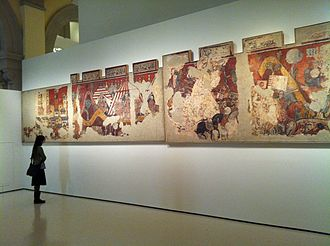 Mural paintings of the conquest of Majorca - Image: MNAC Conquesta de Mallorca