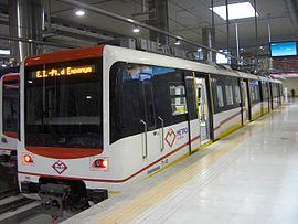 Metro train in the Estació Intermodal
