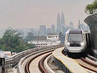 MRT SBK Semantan Platform 1 viewing KL city centre.jpg