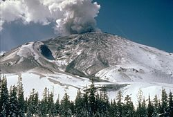 Mount St. Helens from the northeast.