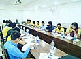 MSU executive members during discussion with VC if LNMU.jpg