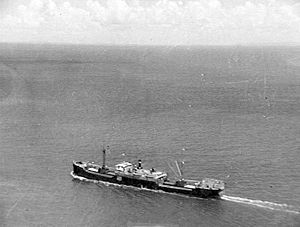 MS West Honaker seen from the air shortly before arrival at Brisbane on 13 December 1940.
