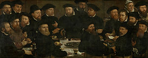 Dirck Barendsz - Meal of the Amsterdam guardsmen in 1566, known as the Poseters