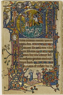 Macclesfield Psalter - FitzWilliam Museum f139v (Annunciation to sheperds).jpg