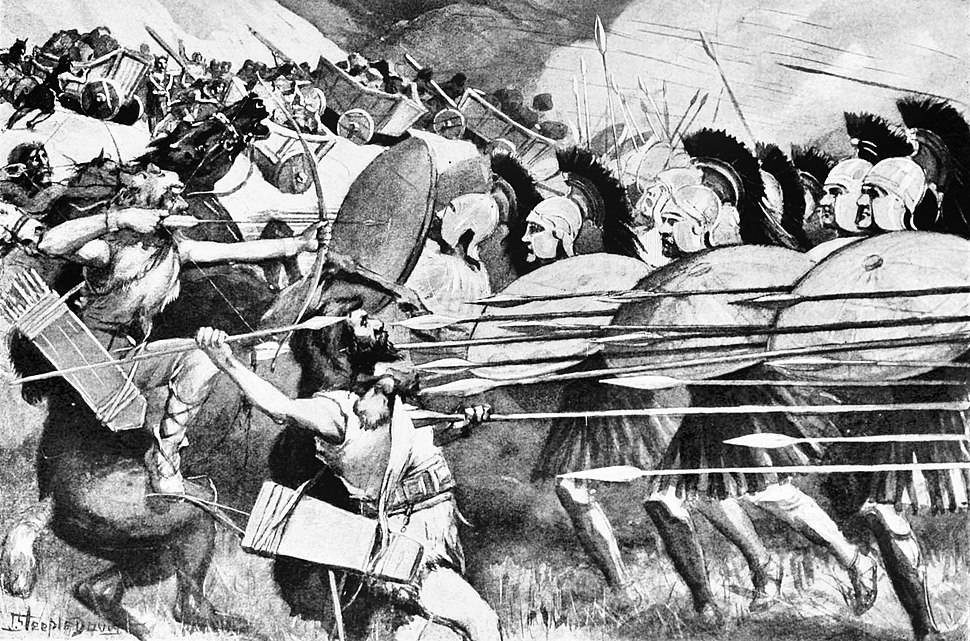 Macedonian Phalanx at the Battle of the Carts
