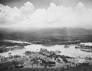 Battle of Madang - Madang harbour, October 1945