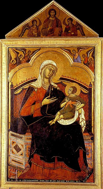 Guido of Siena - Enthroned Madonna of Guido of Siena, c. 1270-80.