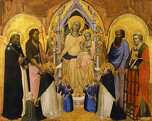 Enthroned Madonna and Child with Saints