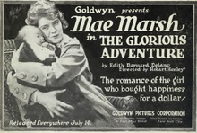 Mae Marsh The Glorious Adventure 1918