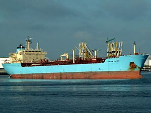 Maersk Ramsey at the Calland canal, Port of Rotterdam, Holland 08-Jul-2006.jpg