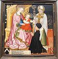 Maestro GZ, madonna col bambino e il committente pietro de' lardi presentato da san nicola, 1420-30 ca. (ferrara).JPG