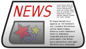 An svg newspaper, coloured to be used as an ic...