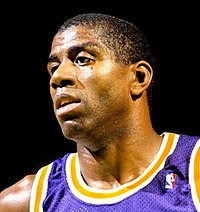 Magic Johnson i Los Angeles Lakers c:a 1987