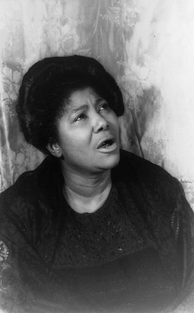 Mahalia Jackson, American gospel singer
