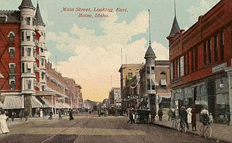Boise, Idaho - Main Street in 1911
