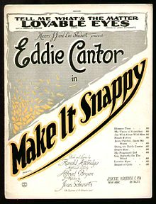 Make It Snappy 1922 sheet music cover.JPG