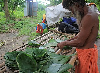 Banana leaf - Making of banana leaf plates which replace plastic as a climate solution
