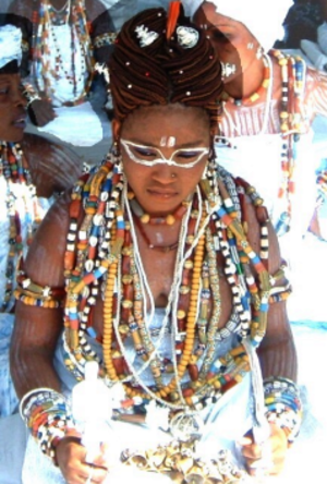Mami Wata - Priestess of Mami Wata in Togo, West Africa in 2005
