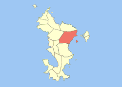 Location o the commune (in reid) within Mayotte