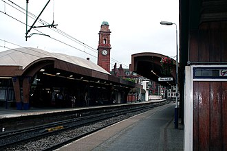 Manchester Oxford Road railway station - Manchester Oxford Road station platforms with the distinctive canopies