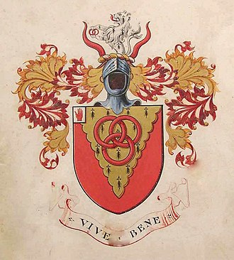 Mander baronets - Mander armorial achievement, College of Arms, 1911