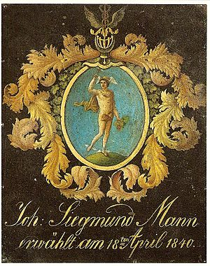 Mann family - Family coat of arms from 1840