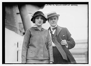 Laurette Taylor - Laurette Taylor and J. Hartley Manners circa 1914-1915