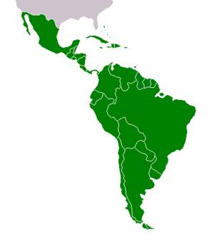 Latin American economy - Map of Latin America showing modern political divisions