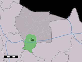 Albergen - Image: Map NL Tubbergen Albergen