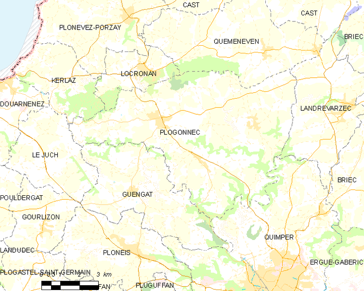 Archivo:Map commune FR insee code 29169.png