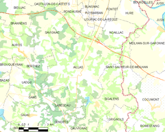 Map commune FR insee code 33002.png