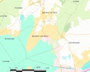 Balaruc-les-Bains - Map