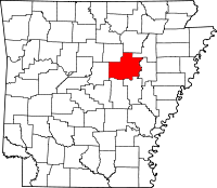Map of Arkansas highlighting White County