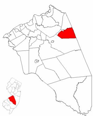 New Hanover Township, New Jersey - Image: Map of Burlington County highlighting New Hanover Township
