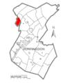 Map of Huntingdon County, Pennsylvania Highlighting Morris Township.PNG