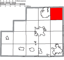 Location of Hinckley Township in Medina County