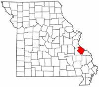 Map of Missouri highlighting Ste. Genevieve County.png