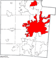 Map of Montgomery County Ohio Highlighting Dayton City.png