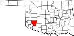 State map highlighting Kiowa County