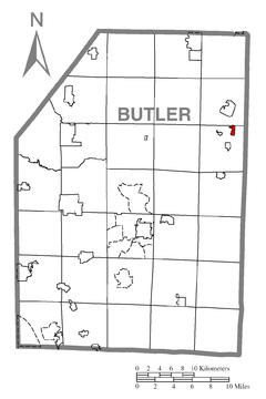 Map of Petrolia, Butler County, Pennsylvania Highlighted.png