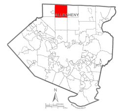 Map of Pine Township, Allegheny County, Pennsylvania Highlighted.png