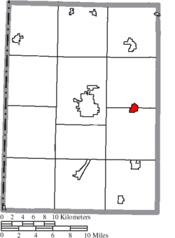 Location of West Alexandria in Preble County