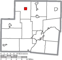 Location of Kettlersville in Shelby County