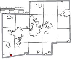 Location of Beach City in Stark County