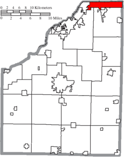 Location of Northwood in Wood County
